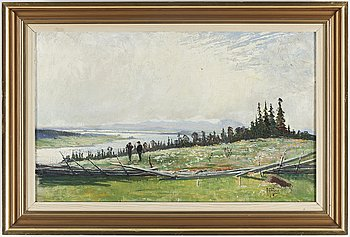 ANTON GENBERG, oil on canvas, signed A. Genberg.