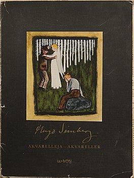 HUGO SIMBERG, efter, 20 st, off-set tryckbilder, WSOY Borgå 1952.