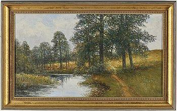 SEVERIN NILSON, olja på duk, signerad Severin Nilson och daterad 1915.