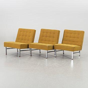 KARL ERIK EKSELIUS, fåtöljer 3 st JOC möbler Vetlanda 1960-tal.