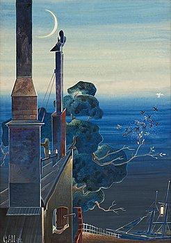 422. Gösta Adrian-Nilsson, View from the artist's apartment at Bastugatan, Söder, Stockholm.