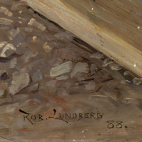 Robert lundberg, signed and dated (18)88