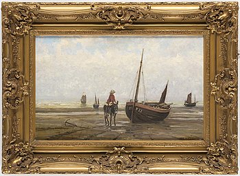 LOUIS ARTAN, oil on canvas, signed.