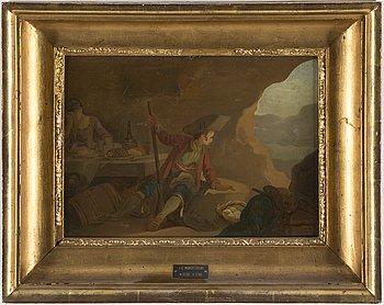 JOHAN EDVARD MANDELBERG, tillskriven, olja på papp-pannå.
