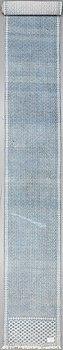 MATTA, ZILO. Slätvävd. Bomull, ca 686  x 89 cm.