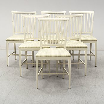 """CARL MALMSTEN, stolar, 6 stycken, """"Vardag"""", 1900-talets andra hälft."""