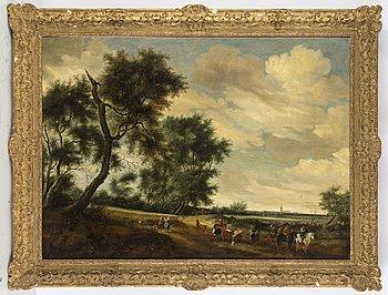 OKÄND KONSTNÄR, 1800-TAL. Kopia efter holländare, möjligen Pieter Molijn, olja på duk.