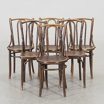 A SET OF 2+2+2 BENTWOOD CHAIRS EARLY 20TH CENTURY,