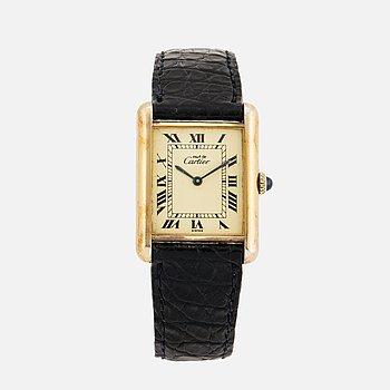 must de CARTIER, Tank Argent, wristwatch, 23,5 x 30 mm.