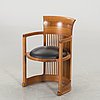 "Frank lloyd wright, karmstol, 606 ""barrel chair"", cassina, 1986"