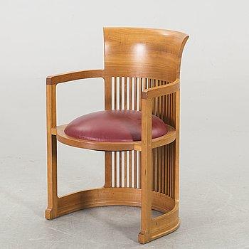 "FRANK LLOYD WRIGHT, KARMSTOL, 606 ""Barrel Chair"", Cassina, 1986."