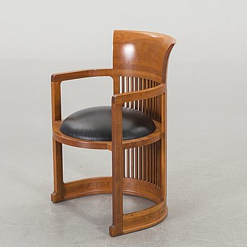 "FRANK LLOYD WRIGHT, KARMSTOL, 606 ""Barrel Chair"", Cassina."