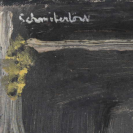 Bertram schmiterlÖw, oil on canvas, signed.