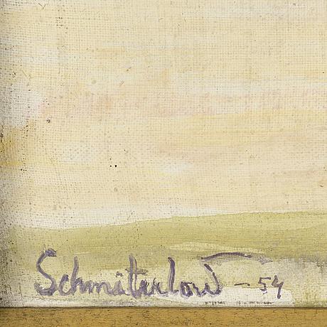 Bertram schmiterlÖw, oil on cvanvas, signed and dated -54.