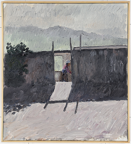 Bertram schmiterlöw, oil on canvas, signed, jujuy (province in argentina).