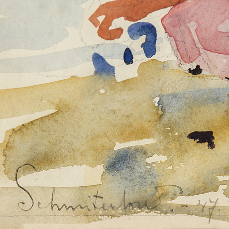 Bertram schmiterlÖw, watercolour, signed and dated -47.
