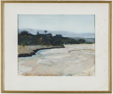 Bertram schmiterlÖw, watercolour, signed jujuy (province in argentina)