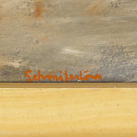 Bertram schmiterlöw, watercolour and gouache, signed.