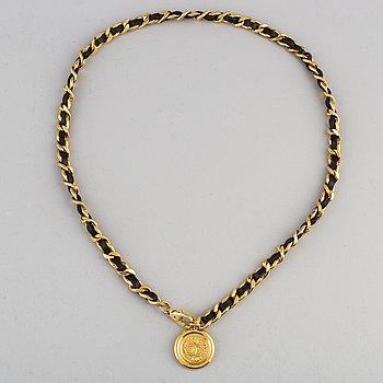 CHANEL, a chain belt, size 80.