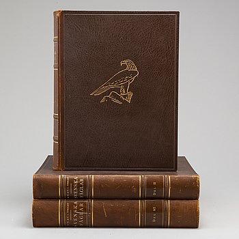 """M, W & F VON WRIGHT, bokverk, """"Svenska fåglar"""" I-III, andra upplagan, Förlaget Svenska Fåglar. Stockholm, 1927."""