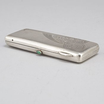 A silver wallet by an unknown maker, Moscow, 1908-17.