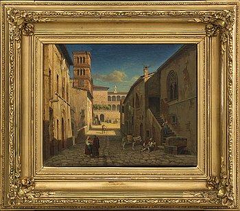 GUSTAF WILHELM PALM, olja på duk signerad och daterad 1864.