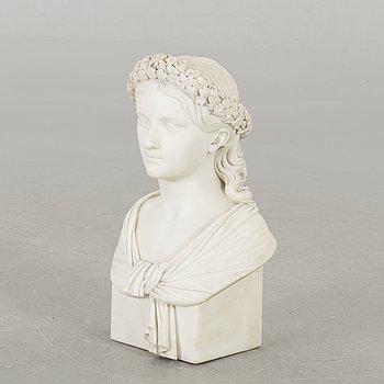 OKÄND KONSTNÄR 1800-TAL , byst marmor.