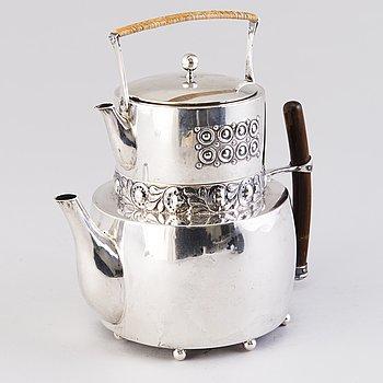 A SILVER TEA POT by A.A. Alm. Porvoo Finland 1909.