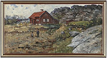 GUSTAF JEANSON, oil on canvas, signed and dated 1893.