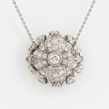 COLLIER, med diamanter,