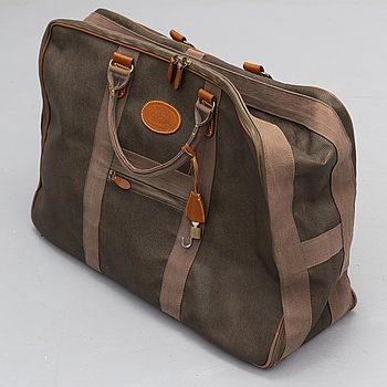 MULBERRY, a Scotchgrain suitcase.