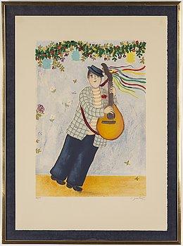 LENNART JIRLOW, färglitografi, signerad L. Jirlow och numrerad 166/310 med blyerts.