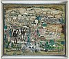 James coignard, mixed media on canvas signed, executed in the 1950's-60's.