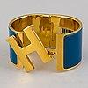 "HermÈs, ""clic h"", armband, storlek extra wide pm"