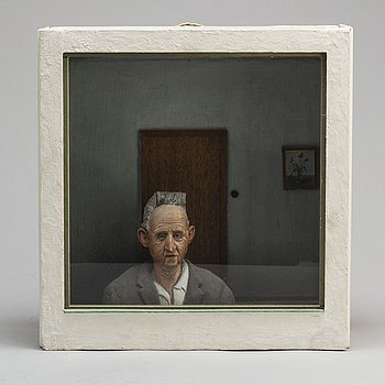 LENNART OLAUSSON, wall object, signed and dated -77.