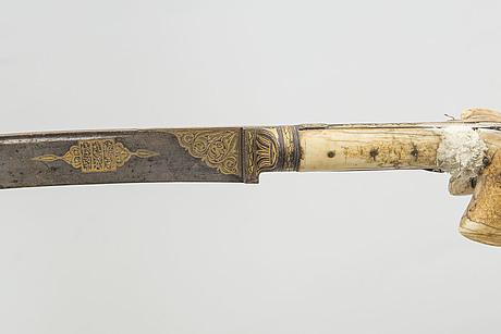 yataghan, 3 st, ottomanska, turkiet sannolikt 1800 tal