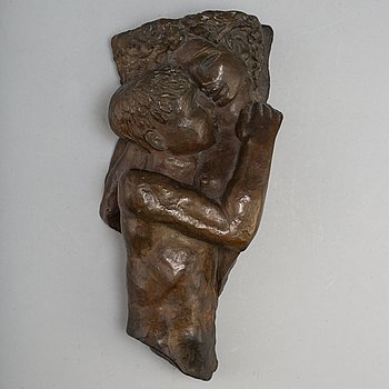 THORWALD ALEF, väggskulptur, brons, A pettersson konstgjuteri.