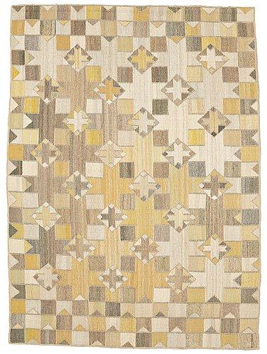 "Barbro nilsson, a tapestry, ""korsstjärnan"", flat weave, ca 212,5 x 155 cm, signed bn."