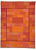 "Marianne richter, matto, ""fasad, orange"", flat weave, ca 351,5 x 253,5 cm, signed ab mmf mr."