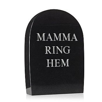 "76. Marianne Lindberg De Geer, ""Mamma ring hem/Mom call home""."