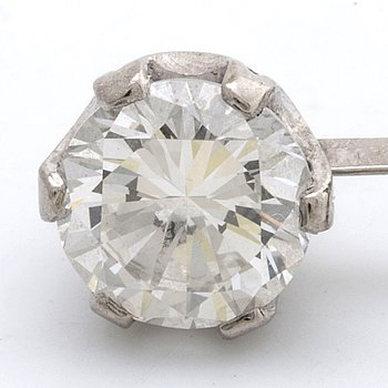 DIAMOND approx 1,10 ct approx I VS, mounted in a part of a pendant.