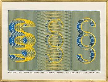 STURE JOHANNESSON, färgserigrafi, signerad 1973, numrerad 37/100.