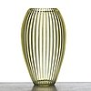 """Simon gate, a cut """"triton"""" glass vase, designed and executed at orrefors ca 1918."""