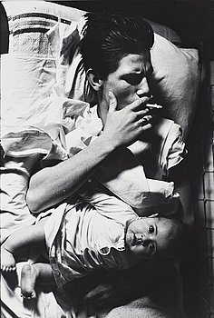 """246. Larry Clark, """"Untitled (Smoking with baby)"""", 1963."""
