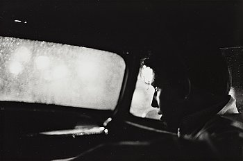 """247. Larry Clark, """"Untitled (man in car with view of rainy night)"""", 1963."""