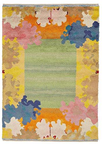 "Kaisa melanton, a carpet, ""skärgårdsmattan"", knotted pile, ca 266,5 x 185,5 cm, signed ab mmf km."