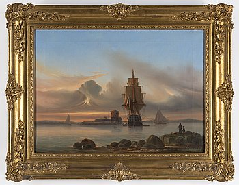 PER WILHELM CEDERGREN, oil on canvas, signed and dated 1855.