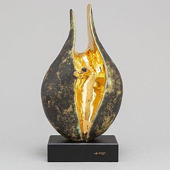 ALF EKBERG, skulptur, stengods, signerad.