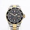 "Rolex, oyster perpetual date, submariner, ""engraved rehaut"", chronometer, armbandsur, 40 mm"