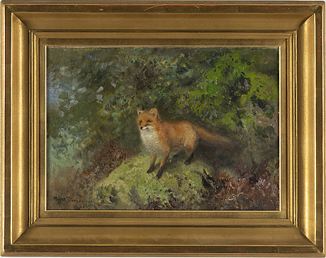 Mosse stoopendaal, oil on canvas, signed and dated 1934.
